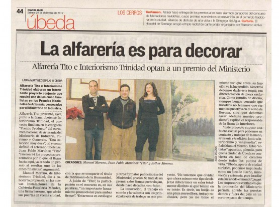 Craft National Award, Diario Jaén