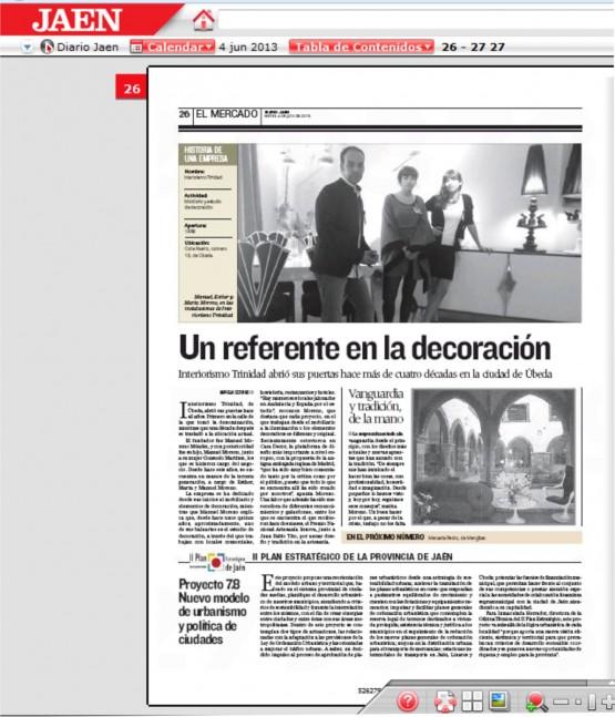 Apariciones en prensa, Diario Jaén