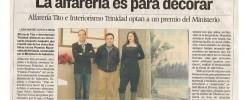 Premio Nacional de Artesanía.